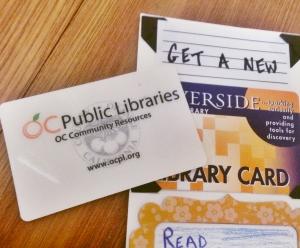 Caitlin gets a new library card