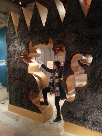 Things got a little wild near the Maurice Sendak part of the exhibit (furry walls!!)