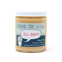 old books candle-200