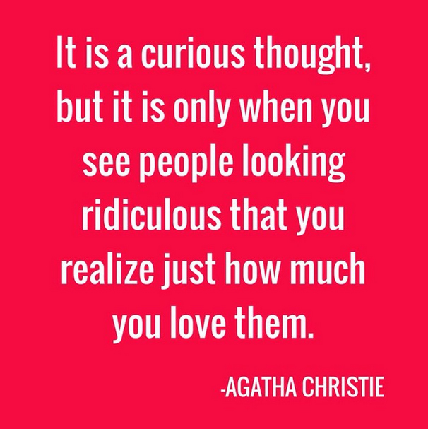 agatha christie love you weirdo