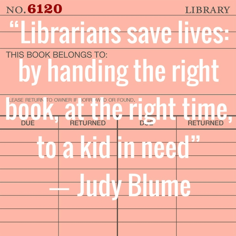 judy blume library quote