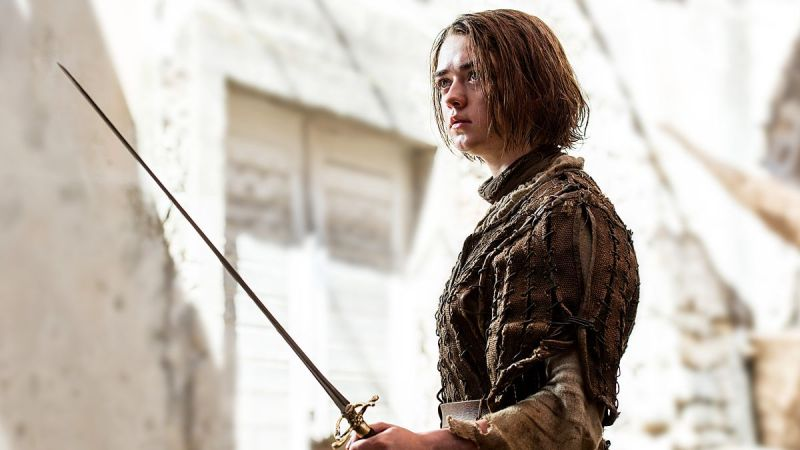 """Nothing's worth anything to a dead man."" Channeling the Hound much, Arya? Image Source: HBO Game of Thrones Viewers Guide"