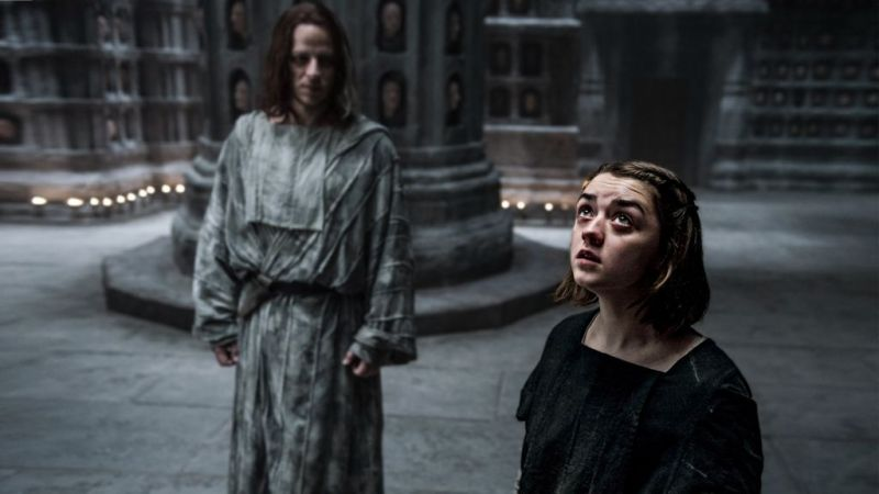 Anyone else really expect to see eyes open when she poked that face? Image source: HBO Viewer's Guide